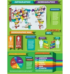 INFOGRAPHIC DEMOGRAPHIC MODERN STYLE 5 vector