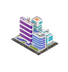 Isometric modern buildings vector