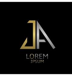 JA letters logo vector image