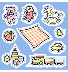 Kid label vector image