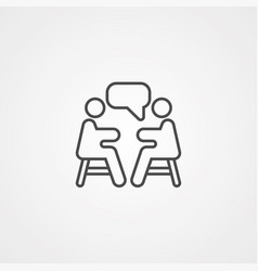 meeting icon sign symbol vector image
