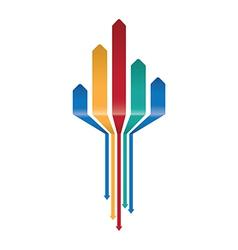 Multicoloured arrow background vector