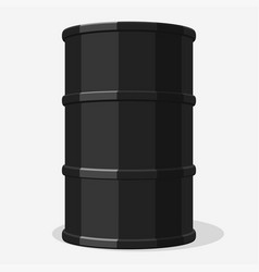 Oil barrel drum container vector