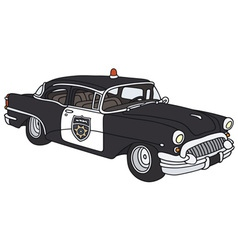 Old police car vector image