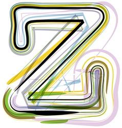 Organic Font letter z vector