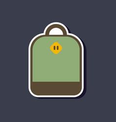 paper sticker on stylish background school bag vector image