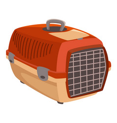 Pet carrier small dog or cat kennel vector