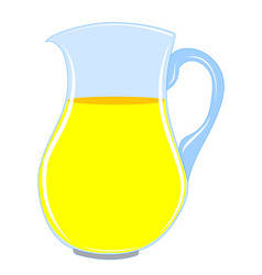 Pitcher with drink vector