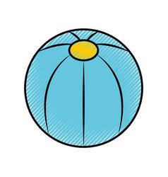 Plastic balloon isolated icon vector