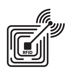 Radio frequency identification or rfid technology vector