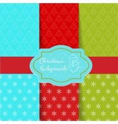Set of Christmas pattern vector