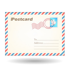 simple postcard vector image