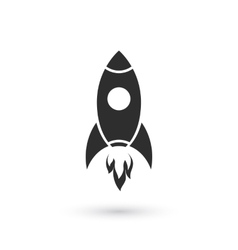 Simple rocket icon vector