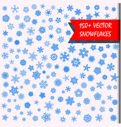 Snowflakes megaset 150 simple isolated snowflakes vector