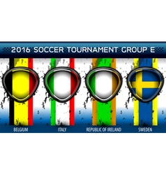 Soccer Euro Group E vector image