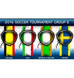 Soccer Euro Group E vector