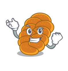 Successful challah character cartoon style vector