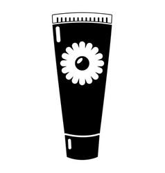 tube cream icon simple black style vector image vector image
