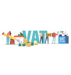 Vat value added tax return service concept male vector