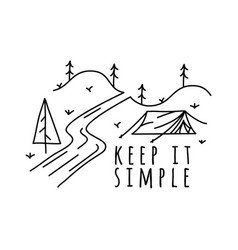 vintage keep it simple logo design outdoor vector image