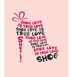 Woman shoe from words vector image