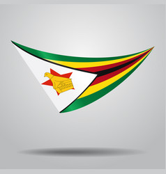 Zimbabwean flag background vector