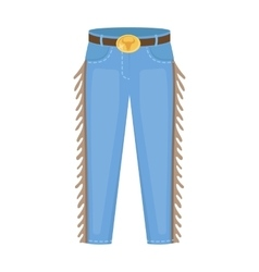 Cowboy jeans icon in cartoon style isolated on vector image