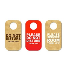 Do Not Disturb Sign Set vector image