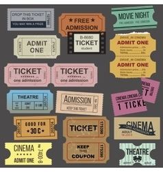 Great tickets collection vector image