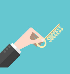hand holding success key vector image vector image