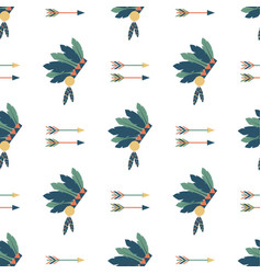 indians colorful arrows seamless pattern vector image