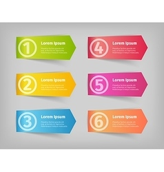 numbering in colored 3d stickers vector image vector image