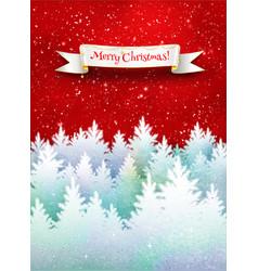 christmas winter postcard vector image