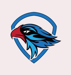 eagle head sport logo vector image