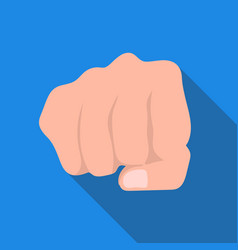 fist bump icon in flat style isolated on white vector image vector image