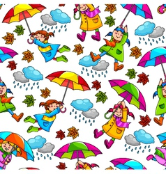girl with umbrellas vector image vector image