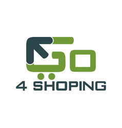 go shopping logo design template vector image
