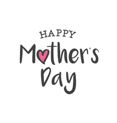 happy mothers day logo card vector image vector image