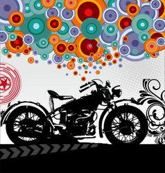 retro motorcycle background vector image vector image