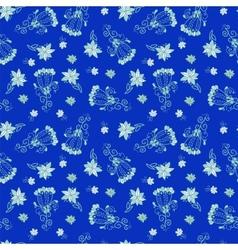Vintage blue floral seamless pattern vector image