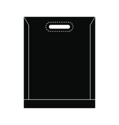 Blank plastic bag icon vector image vector image