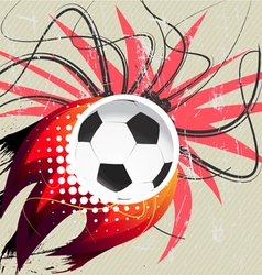 flying soccer ball vector image vector image