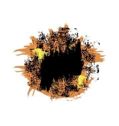 Orange black blot vector image vector image