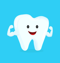strong happy healthy white tooth vector image