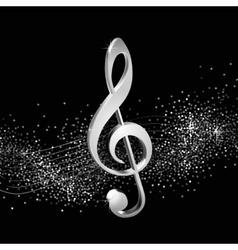 Treble clef silver vector image