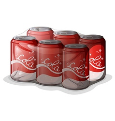 A pack of cola cans vector image