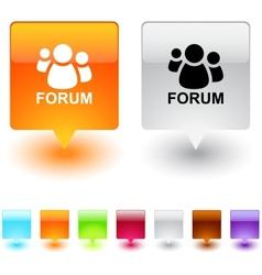 forum square button vector image vector image