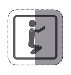 person doing squats icon vector image vector image