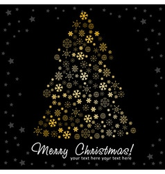 Stylized Christmas tree made of snowflakes vector image vector image