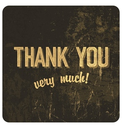 thank you words vector image vector image